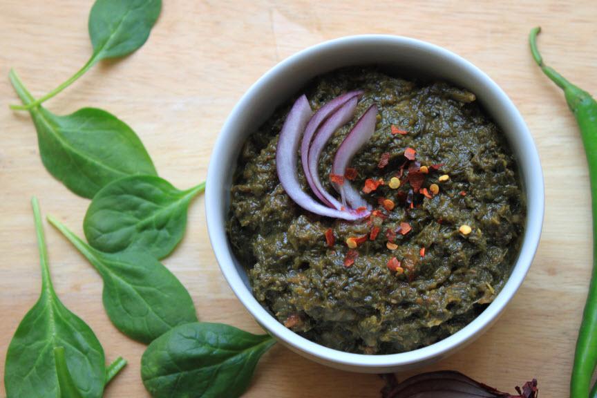 Sarson Ka Saag – Slow cooked mustard greens & spinach