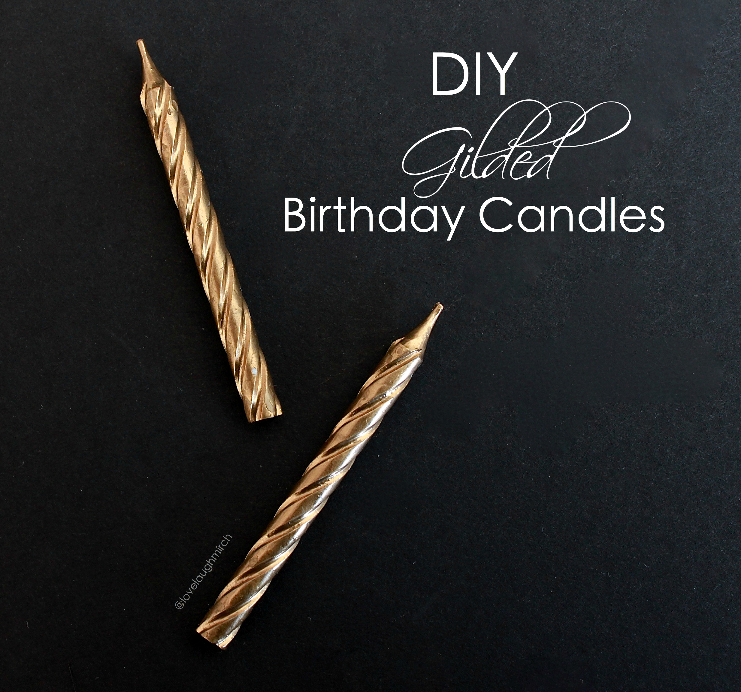 DIY Gilded Birthday Candles