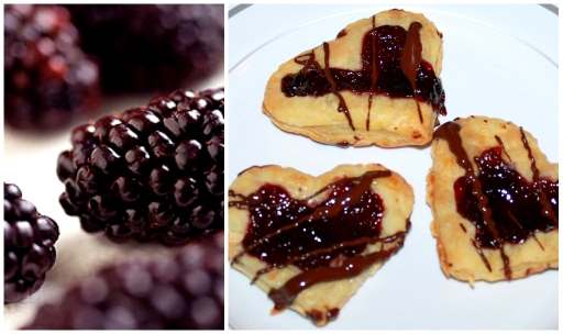 Blackberry Preserve and Toasted Almond Pastry Hearts
