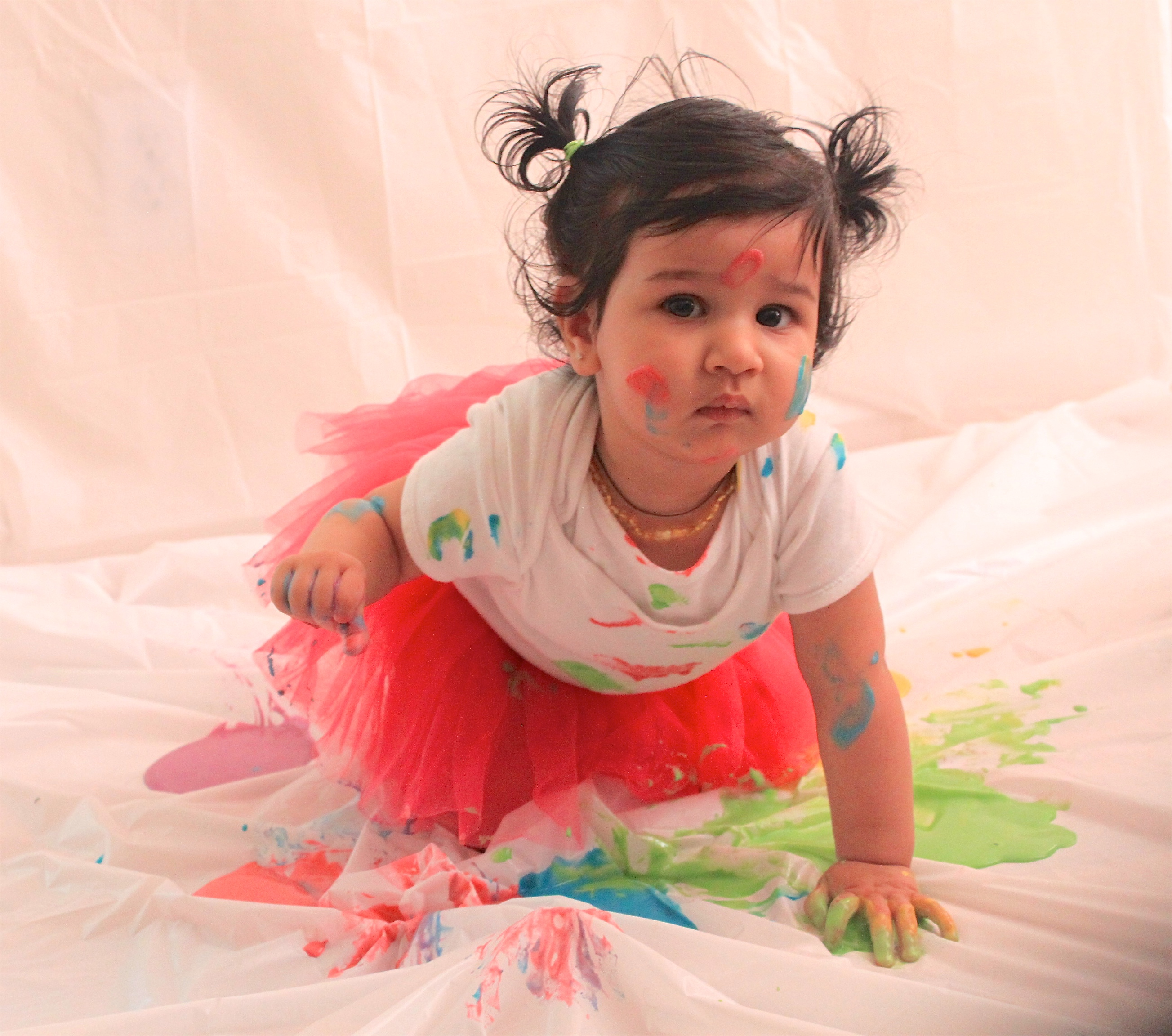 Little Mirchi's First Holi