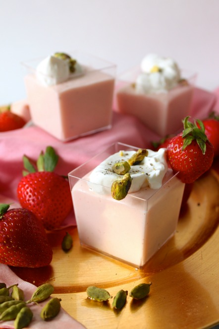 Strawberry Rose Custard