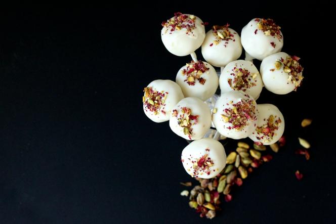 Cardamom Rose Cake Pops