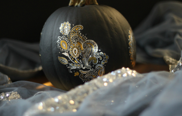 DIY Metallic Henna Pumpkins