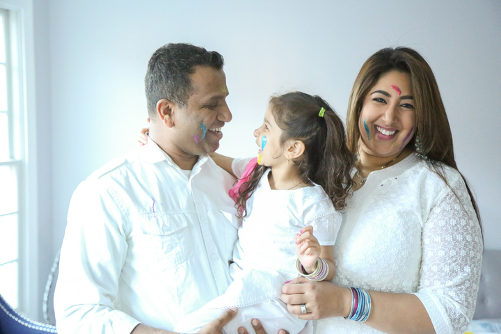 Holi Family Photoshoot