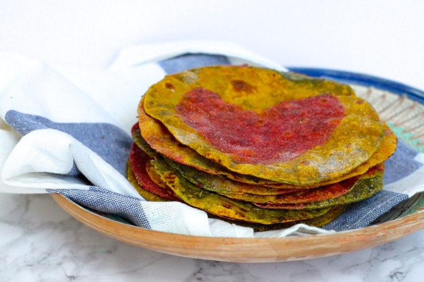 Rainbow Rotis | Vegetable Flatbread