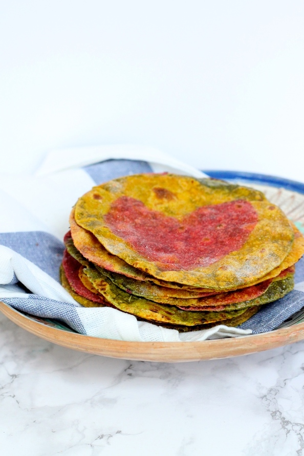 Rainbow Roti | Vegetable Flatbread