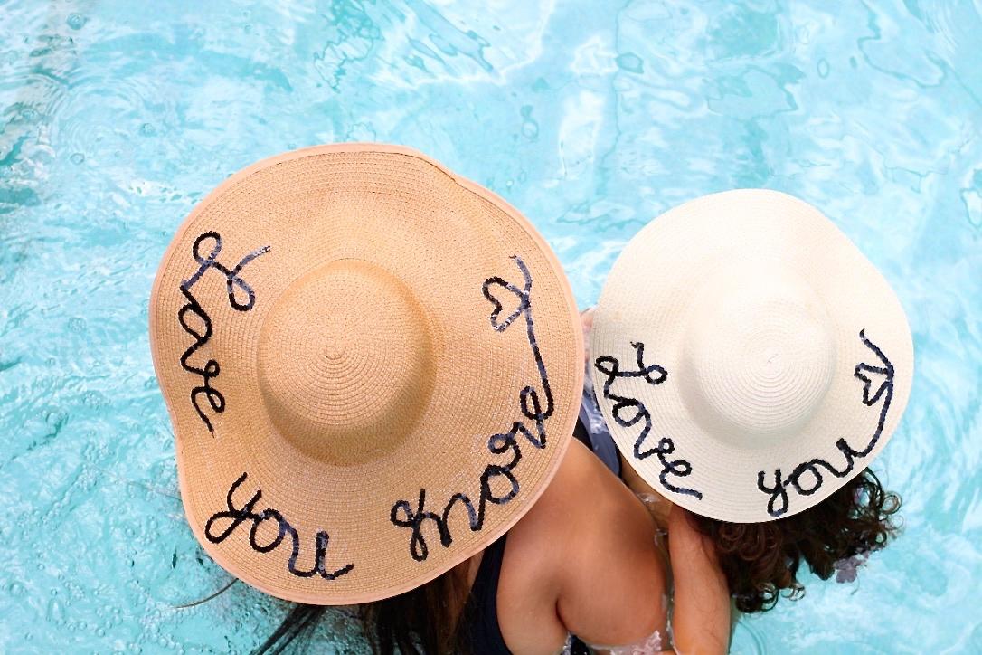 706dd345091 DIY Mother Daughter Straw Hats | Love Laugh Mirch