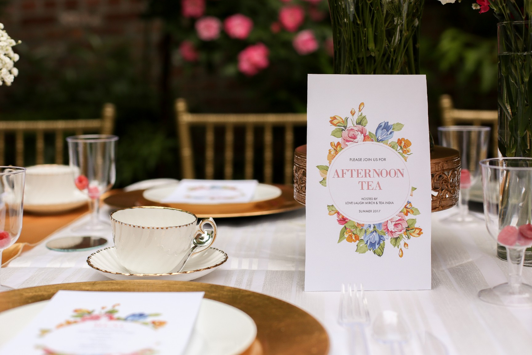 Indian Afternoon Tea | Invite + Table Setting & Indian Afternoon Tea | Invite + Table Setting | Love Laugh Mirch