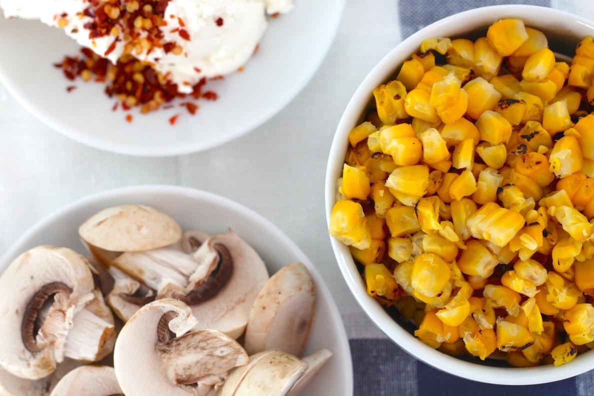 Roasted Corn and Mushroom Turnovers