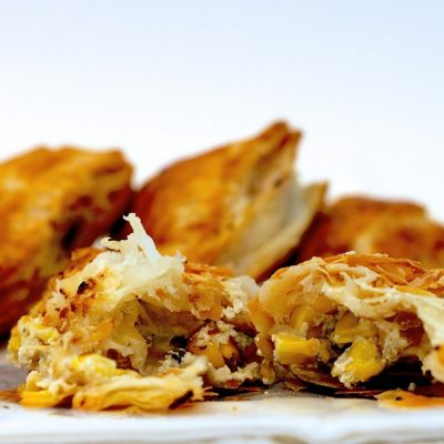 Roasted Corn and Mushroom Turnovers