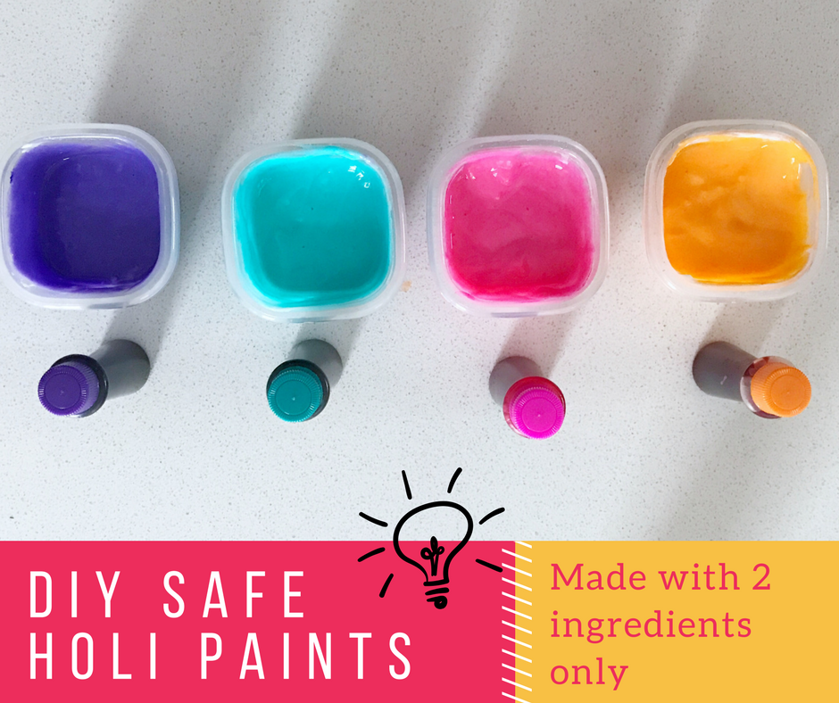 Playing Holi becomes even more enjoyable when you're stress free and you and your family play with natural homemade Holi Colors. So whether you're little one is two or twenty, I'm sharing 5 homemade Holi Color Recipes that you could make at home!